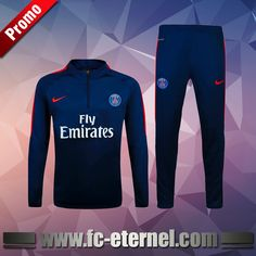 Survetement de foot Paris PSG Bleu Marine 2016-2017 Chine