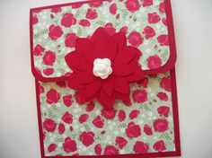 Gift Card Holder Valentine Gift Card Holder Flower