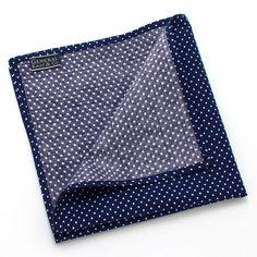 1950s Navy & White Micro Dot Pocket Square