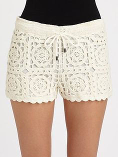 If denim cut-offs feel stale for summer, crochet shorts are trending as a feminine, boho alternative. Joie's