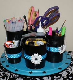 Home extra room on pinterest scrapbook rooms craft - Lazy susan desk organizer ...