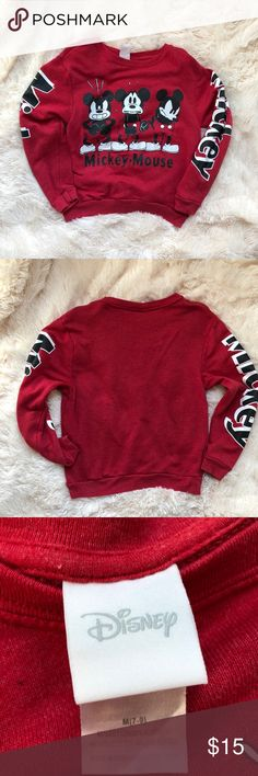Disney Mickey Mouse sweatshirt size M Disney Mickey Mouse sweatshirt size M. Super comfortable! Great for trips to Disney parks or just for fun! Disney Tops Sweatshirts & Hoodies