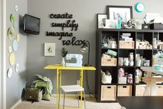 Black and Yellow Work Space