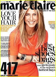 Jennifer Aniston Covers 'Marie Claire Australia' May 2012