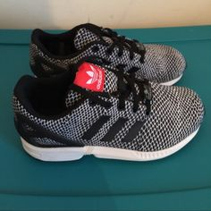 Adidas ZX Flux Size 4 but fits women size 5. In excellent condition . Warn once . No stains, water damage or heel scrapping Adidas Shoes Athletic Shoes