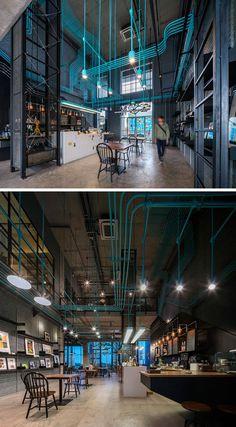 Conçu par le studio Supermachine avec la collaboration de Sansiri, voici unespace de co-working bien coloré et design, il est situéà Bangkok, en Thaïlande.