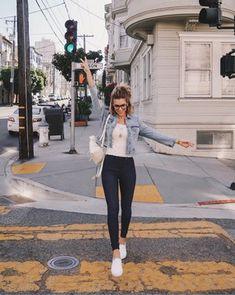 Do It In Denim - The Life and Style of Nichole Ciotti Hi Fashion, Fashion Beauty, Fashion Dresses, Fashion Looks, Womens Fashion, Fall Outfits, Casual Outfits, Casual Clothes, Office Outfits