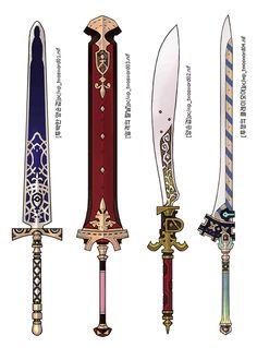 Fantasy Sword, Fantasy Armor, Fantasy Weapons, Armor Concept, Weapon Concept Art, Swords And Daggers, Knives And Swords, Prop Design, Game Design