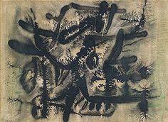 E. Besozzi pitt. 1965 Natura china su carta f.b.s. cm.40x60 arc. 1437