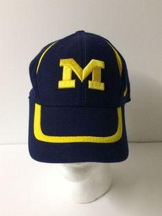 5438dcb25f6 UNIVERSITY OF MICHIGAN Baseball Hat CAP NAVY BLOCK M   SWOOSH BY NIKE  Nike   MichiganWolverines