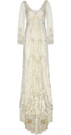 Temperley London Embroidered lace gown