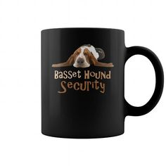 Funny Basset Hound Security Mug