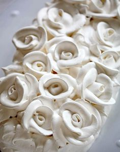 Lemon Meringue Mother's Day Cake – (how-to video: piping meringue roses)  SOOO PRETTY