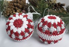 Crochet Christmas Decorations, Crochet Ornaments, Holiday Crochet, Beaded Ornaments, Ornament Crafts, Felt Ornaments, Holiday Decorations, Tree Decorations, Christmas Makes