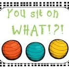 I've been using exercise balls as seating in my classroom for three years now and LOVE it! Here are some of the posters I use to hang outside my cl...