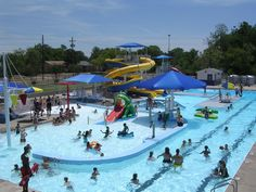Make a splash at Ardmore Community Water Park in Oklahoma. This summer water park features spiral slides, a rain shower section, water basketball and more.