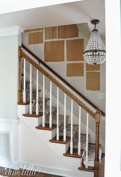 Dear Lillie: Finally - A Gallery Wall For Our Stairway Staircase Wall Decor, Staircase Design, Stair Banister, Staircase Remodel, Stairway Gallery Wall, Gallery Walls, Stairway Art, Gallery Frames, Stair Photo Walls