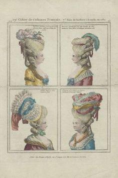 Gallerie des Modes et Costumes Français, 29e. Cahier de Costumes Français, 7e Suite des coeffures à la mode en 1780. ee.169