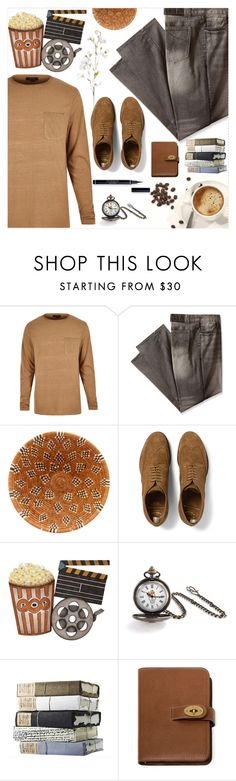 """""""Men's Fashion"""" by salihovic-nihad ❤ liked on Polyvore featuring River Island, Rocawear, Officine Creative, Dot & Bo, Bling Jewelry, Mulberry, OKA, men's fashion and menswear"""