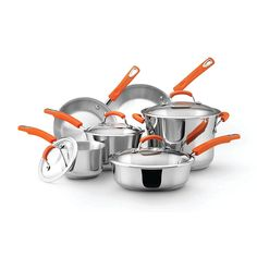 10 Piece Stainless Steel Cookware Set by Rachael Ray