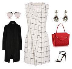 """LADIES WHO LUNCH #MONDAY"" by ruhan-victor ❤ liked on Polyvore featuring Oscar de la Renta, Christian Louboutin, Donna Karan and Christian Dior"
