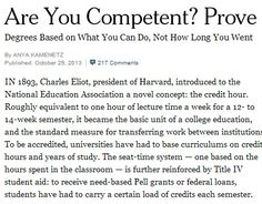 competency based third level education article - new york times.