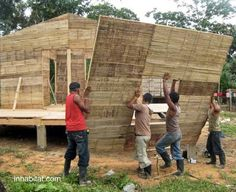 Bambu Brings Low-Cost, Low-Carbon Bamboo Housing to Nicaragua Bamboo Architecture, Sustainable Architecture, Sustainable Design, Architecture Details, Architecture Life, Bamboo Trellis, Bamboo Art, Bamboo Crafts, Bamboo Building