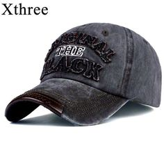 Xthree hot retro baseball cap fitted cap snapback hat for men women gorras  casual casquette Letter embroidery black cap 1af9652a311