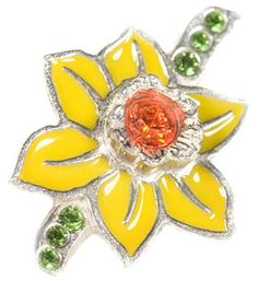 This exclusive Daffodil Lapel Pin for Marie Curie features bright yellow enamel daffodil petals Swarovski Gifts, Swarovski Crystals, Marie Curie, I Got Married, Garden Gifts, Daffodils, Lapel Pins, Little Gifts, Bright Yellow