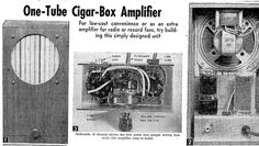 Build a One-Tube Cigar Box Amplifier - Vintage plans from 1954 – Cigar Box Nation