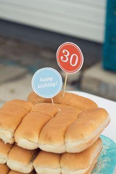 30th birthday party ... Easy backyard ideas