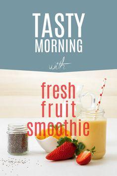 #recipe #food #food photography #healthy breakfast #microstock #food styling #mango #strawberries #fruit Tasty, Yummy Food, Fruit Smoothies, Fresh Fruit, Allrecipes, Food Styling, Strawberries, Food Food, Food Photography