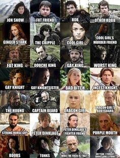 Game of Thrones cheat sheet lol