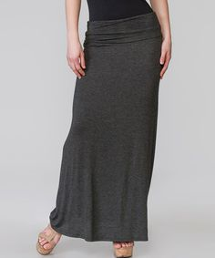 Love this Charcoal Stretch Maxi Skirt by Magic Fit on #zulily! #zulilyfinds