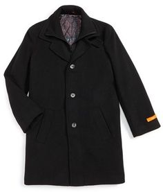 Tallia Wool Blend Peacoat (Big Boys) available at Teen Guy, Layered Look, Big Boys, Wool Blend, Zip Ups, Raincoat, Nordstrom, Guys, Stylish