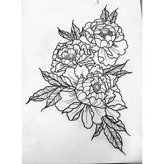 Design for tomorrow   #peonies #peonytattoo #flowertattoo #lineworktattoo #blackwork #minimalist