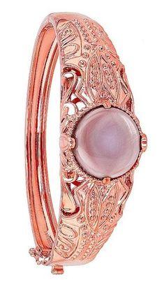 Copper And Pink, Gemstone Rings, Gemstones, Bracelets, Gold, Jewelry, Fashion, Moda, Jewlery