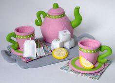 Other – Tea Set Felt Food PDF Pattern- Tray, Teapot, Te... – a unique product by GulfCoastCottagePDF on DaWanda