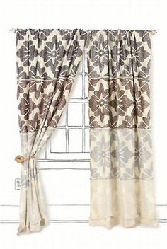 Glamorous Black and White Curtain Panels and Drapery