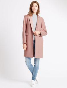 Revere Collar Overcoat