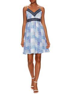 The Letter Empire Waist Lace Dress