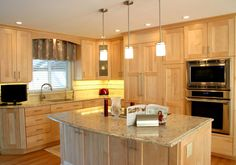 BKC Kitchen and Bath kitchen remodel: Crystal Cabinet Works, Lanesboro door style, Natural stain on Maple