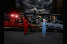 """Gods of Suburbia"": Dina Goldstein's Arresting Photo Series Featuring Ancient Gods in Modern-Day Scenarios"