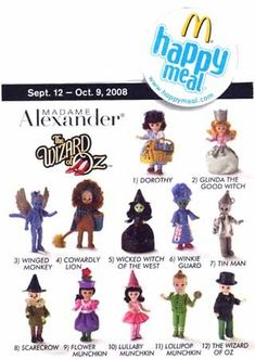 2008 Mcdonalds Madame Alexander Wizard of Oz Dolls Set Of 12 Figure Wizard Of Oz Dolls, Porcelain Dolls Value, Porcelain Tiles, Fine Porcelain, Toys For Us, Mcdonalds Toys, Madame Alexander Dolls, Wicked Witch, Soft Dolls