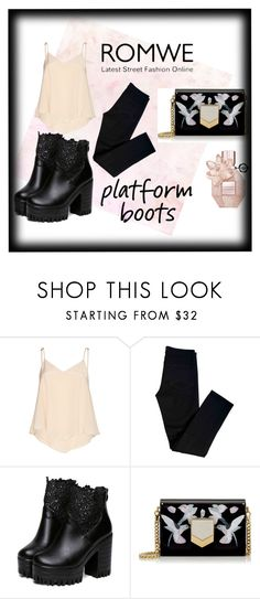 """""""#Contest #Romwe #Boots"""" by gabrielasmartens ❤ liked on Polyvore featuring Alice + Olivia, J Brand and Jimmy Choo"""