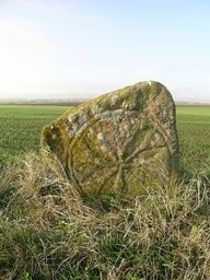 The Skeith Stone, between Kilrenny and Cellardyke, Scotland. With Pictish carving, it probably dates from about the 7th century. The carving is fairly faint but easily visible when sunlit from the side (south-west-ish). Skeith has been adopted as the name for the new health centre about 500 metres away.  Submitted for Scotland's whereaboots: