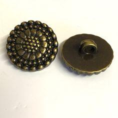 10, 20mm bronze metallic buttons, bronze resin buttons, bronze decorative buttons, bronze shank buttons, bronze buttons, 20mm buttons by Buttonsheduk on Etsy