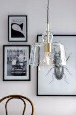 Ellos Home Loftlampe Vidar Mässing/glas - Loftslamper | Ellos Mobile