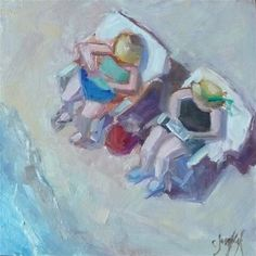 "Daily Paintworks - ""Beach Magic"" - Original Fine Art for Sale - © Carol Josefiak"