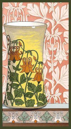 art nouveau flower images - Google Search